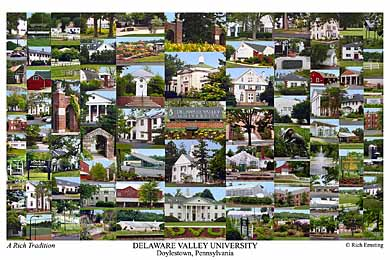 Delaware Valley University Campus Art Print