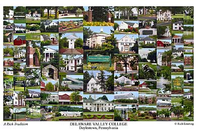 Delaware Valley College Campus Art Print