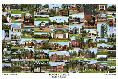 Doane College Campus Art Print
