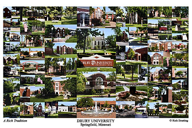 Drury University Campus Art Print