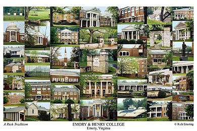 Emory & Henry College Campus Art Print