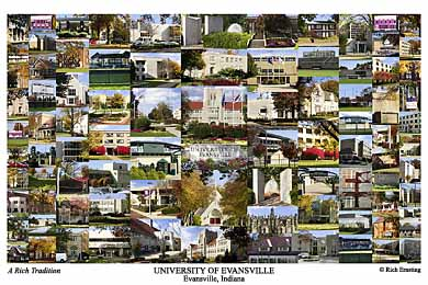 University of Evansville Campus Art Print
