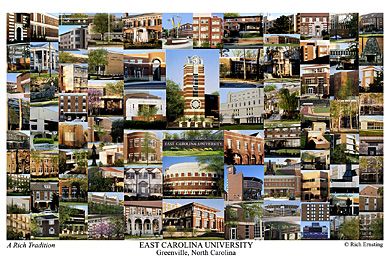 East Carolina University Campus Art Print