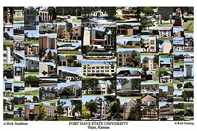 Fort Hays State University Campus Art Print