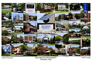 Franklin University Campus Art Print