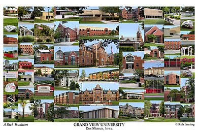 Grand View University Campus Art Print
