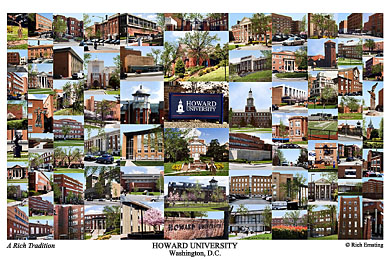 Howard University Campus Art Print