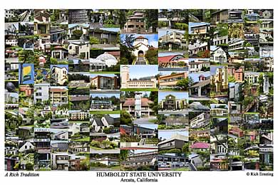 Humboldt State University Campus Art Print