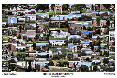 Idaho State University Campus Art Print