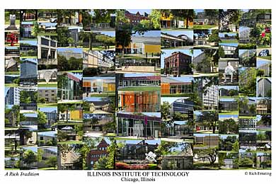 Illinois Institute of Technology Campus Art Print