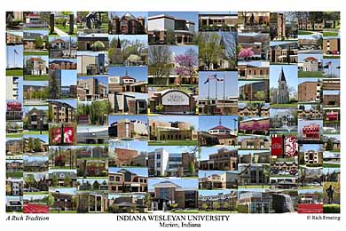Indiana Wesleyan University Campus Art Print