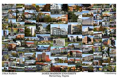James Madison University Campus Art Print