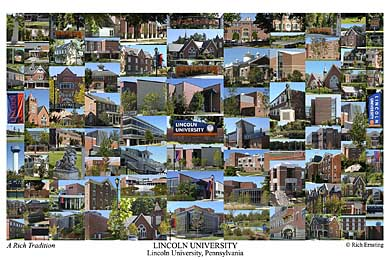 Lincoln University Campus Art Print