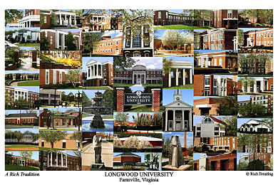 Longwood University Campus Art Print