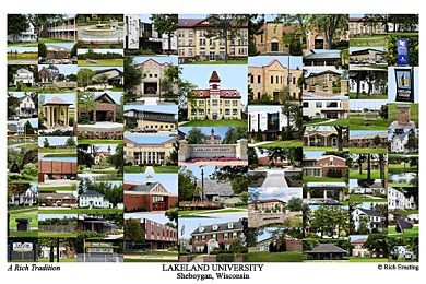 Lakeland University Campus Art Print