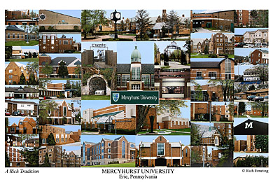 Mercyhurst University Campus Art Print