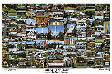 Methodist University Campus Art Print