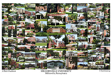 Millersville University of Pennsylvania Campus Art Print