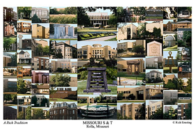 Missouri S&T Campus Art Print