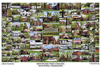 Mount Holyoke College Campus Art Print