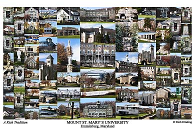 Mount Saint Mary's University Campus Art Print