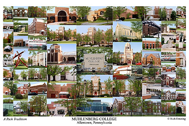 Muhlenberg College Campus Art Print