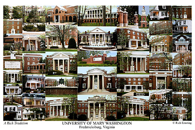 University of Mary Washington Campus Art Print