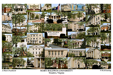 Mary Baldwin University Campus Art Print