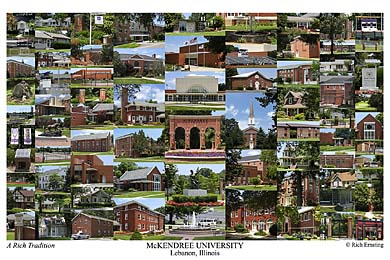 McKendree University Campus Art Print