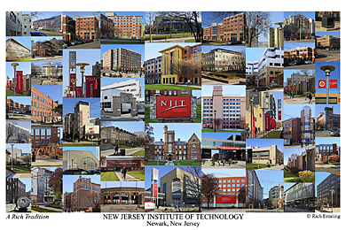 New Jersey Institute of Technology Campus Art Print