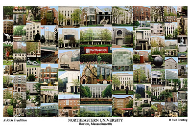 Northeastern University Campus Art Print