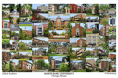 North Park University Campus Art Print
