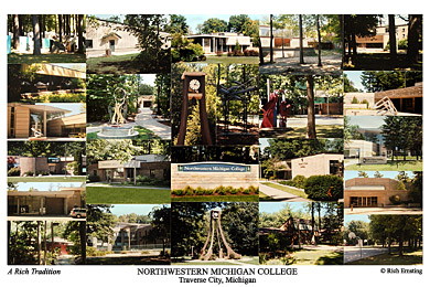Northwestern Michigan College Campus Art Print