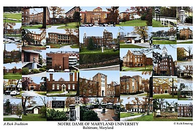 Notre Dame of Maryland University Campus Art Print