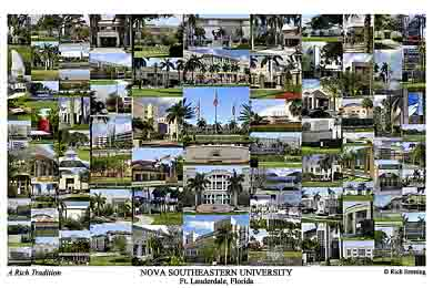 Nova Southeastern University Campus Art Print