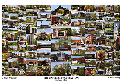 University of Dayton Campus Art Print