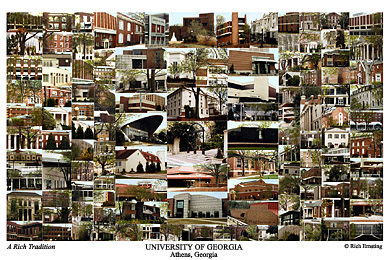 University of Georgia Campus Art Print