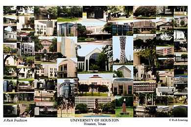 University of Houston Campus Art Print