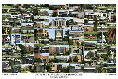 University of Illinois Springfield Campus Art Print