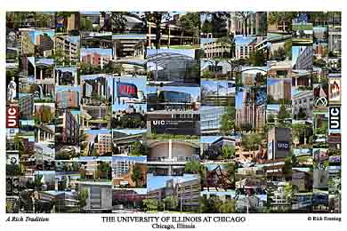 University of Illinois at Chicago Campus Art Print