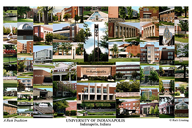 University of Indianapolis Campus Art Print