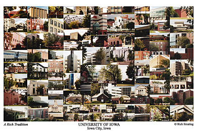 University of Iowa Campus Art Print