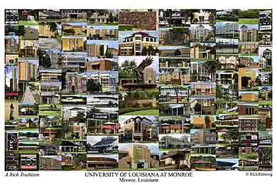 University of Louisiana at Monroe Campus Art Print