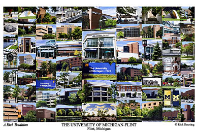 University of Michigan-Flint Campus Art Print