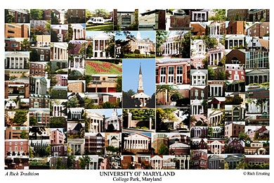 University of Maryland Campus Art Print
