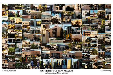 University of New Mexico Campus Art Print