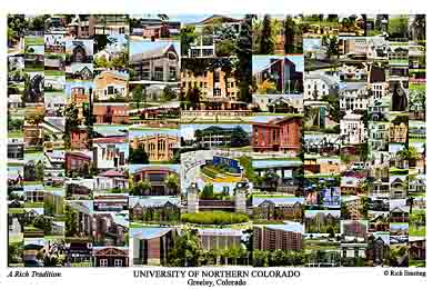 University of Northern Colorado Campus Art Print