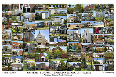 University of North Carolina School of the Arts Campus Art Print