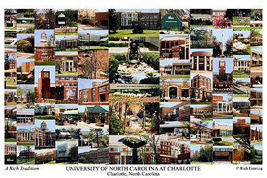 University of North Carolina Charlotte Campus Art Print