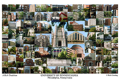 University of Pennsylvania Campus Art Print
